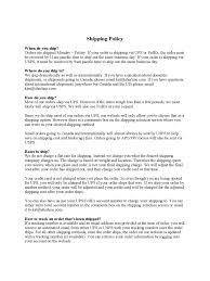 shipping policy template 3 free templates in pdf word excel