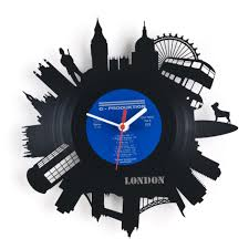 creative wall clock unique and creative black london wall clock silver hour hand