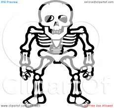 girly color skeleton clipart