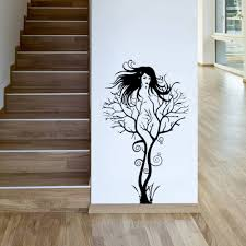 popular girls wall paper buy cheap girls wall paper lots from unique women home decoration black sexy girl tree wall paper stickers office 3d removable living room