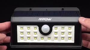 mpow solar light instructions mpow helios solar motion sensor light 4k youtube