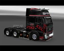 red volvo truck volvo fh16 black red skin ets 2 mods