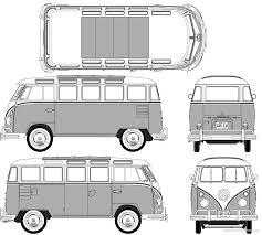 volkswagen van side 1950 volkswagen t1 samba bus blueprints free outlines