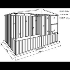 Absco Awning Absco Gable Roof Aviary 3 00m X 2 22m X 2 06m A30231gk Atlas Sheds
