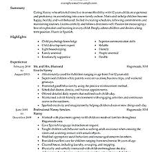 nanny resume exles here are nanny resume exle sle nanny resumes the standout