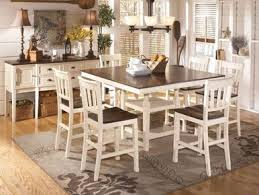 cottage dining room sets holfield 7pcs cottage square counter height dining room table