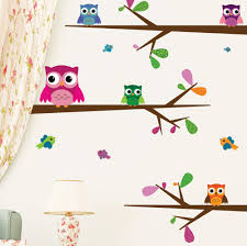 nursery wall decals for kids nursery wall decals big eyed baby owls mount wall decal