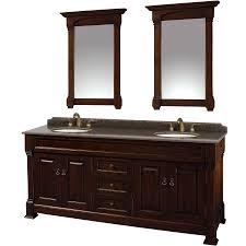 shop wyndham collection andover dark cherry undermount double sink