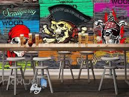 3d graffiti pirate skull wall murals wallpaper art decals decor 3d graffiti pirate skull wall murals wallpaper art decals decor party theme idcwp ty