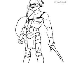 gladiator coloring coloringcrew
