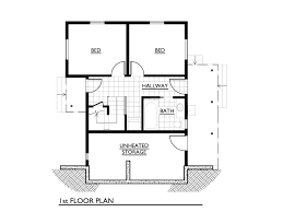 One Story Two Bedroom House Plans Small House Plans Under 1000 Sq Ft One Story Homeca