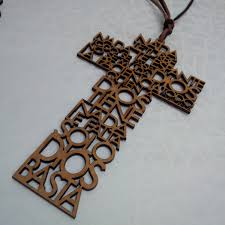 Decorative Wooden Crosses For Wall Laser Cut Wood Cross Wall Decoration With Our Father Padre Nuestro