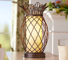 Pineapple Light Fixtures Antiqued Bronze Metal Pineapple Plug In Lamp By Valerie Page 1