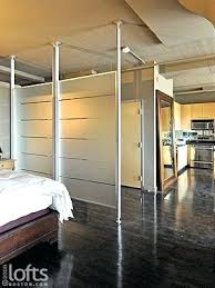 floor to ceiling room divider curtains example of a trendy