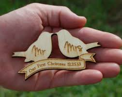 wedding gift ornaments mr and mrs ornament etsy