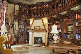 awesome dark brown wood cool design luxury home library ideas