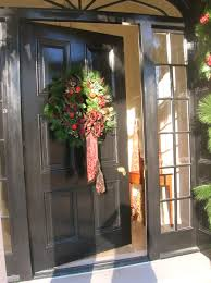 Christmas Garland Decorating Ideas by Terrific Christmas Front Door Decor Photo Design Ideas Tikspor