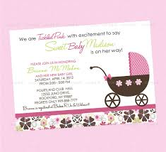 photo pink baby shower invitations image