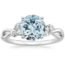 aquamarine wedding rings aquamarine engagement rings wedding promise diamond
