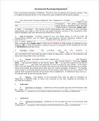 sample commercial purchase agreement 7 examples in pdf