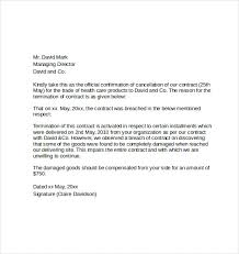 cancellation letter template 28 images contract termination