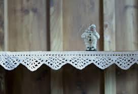 crochet border for shelves lace trim crochet home decor