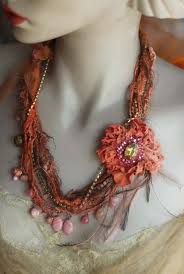 trendy flower necklace images Best 211 flower necklaces images textile jewelry jpg
