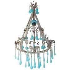 Opaline Chandelier Turquoise Blue Opaline Chandelier For Sale At 1stdibs