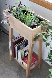 plants meet books white oak planter from hedge house gardenista