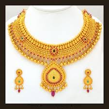 bridal gold sets gold bridal attigai necklace set from vbj jewelry