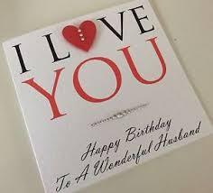 personalised handmade anniversary card husband fiancé