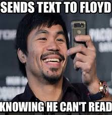 Pacquiao Mayweather Memes - 50 cent mocks floyd mayweather with great manny pacquiao meme