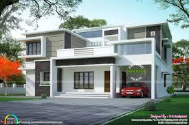 box type flat roof home arch kerala design floor plans home