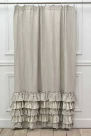 White Ruffled Curtains by Best 25 Ruffle Shower Curtains Ideas On Pinterest White Ruffle