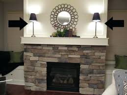fake fireplace wall sticker stone mounted ethanol magnum decals