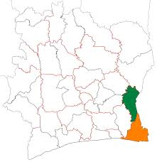 Ivory Coast Map Indénié Djuablin Wikipedia