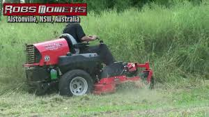 gravely zero turn slashing tall grass at robs mowers alstonville