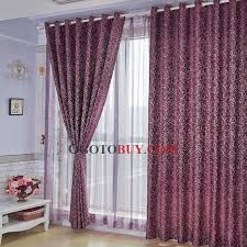 Plum Velvet Curtains Graceful Floral Jacquard Eco Friendly Purple Curtains Buy Purple