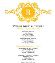 wedding itinerary wedding itinerary template bridetodo com