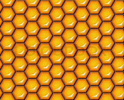 shiny wrapping paper vector illustration seamless honeycomb background pattern shiny
