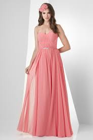 Pink Bridesmaid Dresses A Line Sweatheart Floor Length Chiffon Pink Bridesmaid Dress