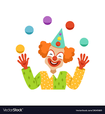 clown graphics 89 clown graphics backgrounds juggling circus clown avatar of friendly vector image