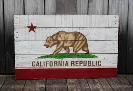california republic state flag painted on reclaimed
