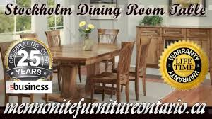 double pedestal solid wood mennonite stockholm dining room table