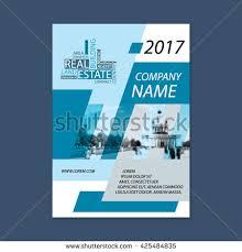 house real estate flyer best agency stock vector 619263530