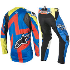 motocross bike gear alpinestars new mx techstar factory blue yellow bmx motocross bike