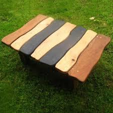 slate wood coffee table stripy slate coffee table