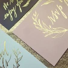 Foil Wedding Invitations Gold Foil Accents Wedding Style Inspiration Lane Weddings