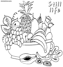 coloring pages still life coloring home