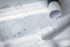 construction plans construction plans of architectural project photo free